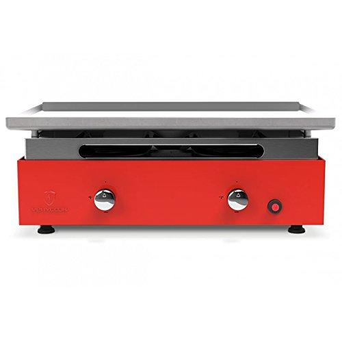 VERYCOOK Plancha-Gasgrill Creative 2 Brenner - gewalzte Stahlplatte