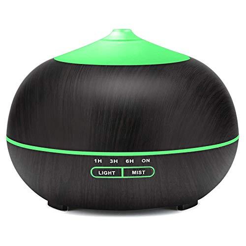 Difusor de aceites esenciales, difusor de aromaterapia sin BPA de 400 ml con función de apagado automático sin agua, humidificador de aroma de niebla ultrasónica