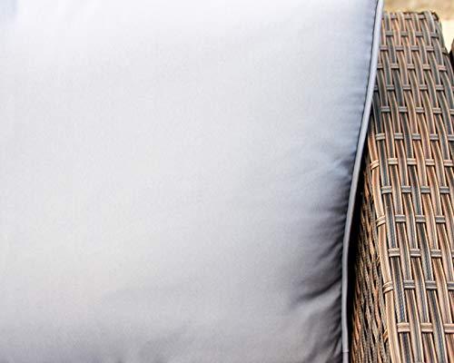 Enjoy Fit Rattan Polyrattan Lounge Sitzgruppe Garnitur Gartenmöbel aus 4 Sitze Sofa, Aufbewahrungsbox für Kissen - 4