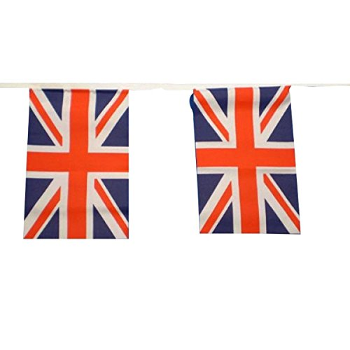 Union Jack Bunting 9metres/30ft Long with 30 Flags by Klicnow