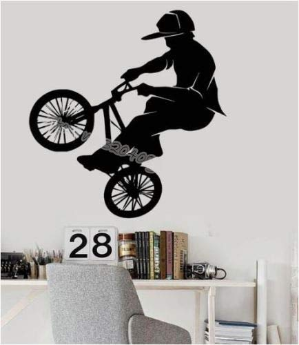 hetingyue Boys Cycling Racing Wall Sticker Fantasy Bicycle Decal Bicycle BMX Intense Sports Mural Home Decoration Mural Youth Room