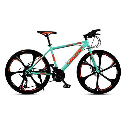 Geïntegreerde Six-Cutter Wheel Volwassene Mountain Bike fiets, 24/27/30 Inch, voor en achter Double Disc Brakes, man en vrouw met variabele snelheid Bicycles