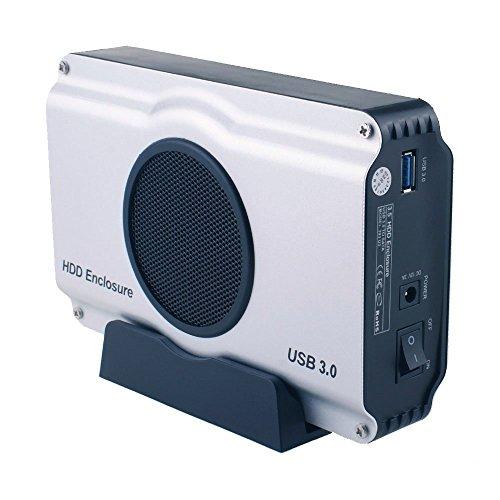 TOOGOO WLX-393U3 USB 3.0 zu 3.5 Zoll SATA I/II/III Aluminium Festplattengehaeuse HDD Gehaeuse mit Luefter (Maximale Unterstuetzung 8TB) EU-Stecker