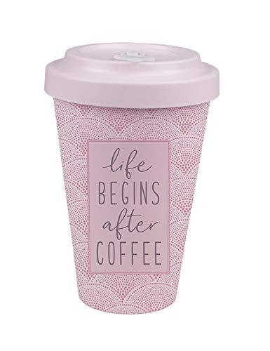 Grafik-Werkstatt Das Original 61010 Kaffeebecher mit Deckel und Spruch - Coffee, rosa