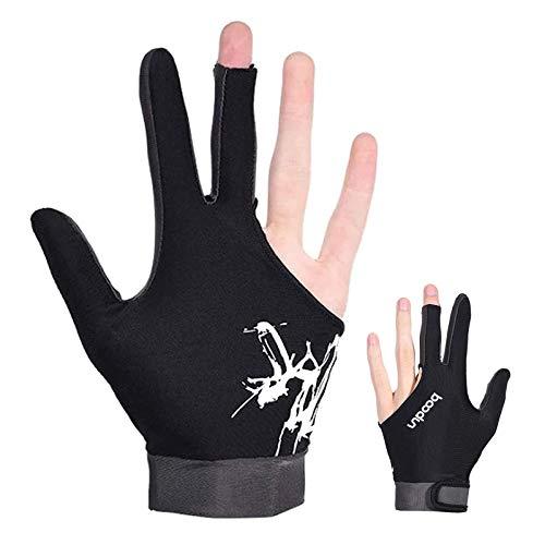 Zeaye 1PCS elastischer Lycra-Drei-Finger-Displayhandschuh, der für Billardschießen und Billard-Sportarten verwendet wird, die von der linken und rechten Hand getragen werden