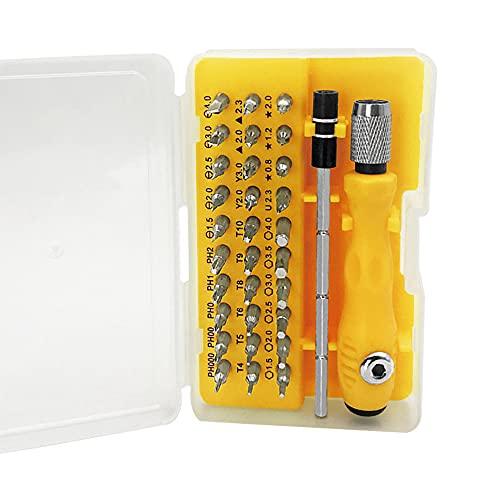 Kaimeilai Mini Juego de destornilladores, 32 en 1 mecánicos de precisión Juego de herramientas de reparación portátil, Juego de destornilladores Adecuado para teléfonos móviles, computadoras,