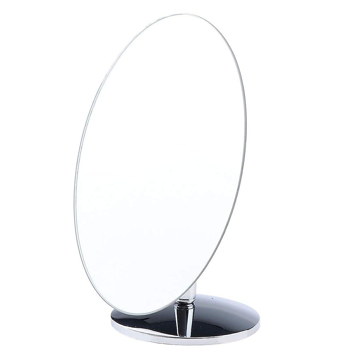 ハチ動貫通するSM SunniMix 化粧鏡 スタンド 卓上 化粧 鏡 360度のスイベル ミラー 卓上ミラー バス 4タイプ選べ - 楕円形小