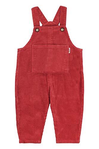 Camilife Baby Jungen Mädchen Kordsamt Latzhosen Overall Kord-Latzhose Cordhose Verdickt mit Fleece für Herbst Winter Vintage Retro - Retro Rot Größe 80