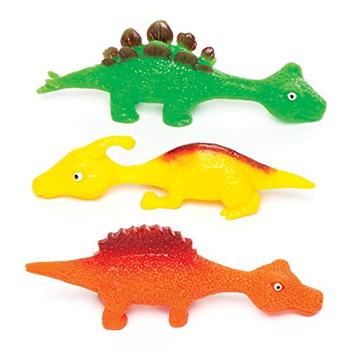 Baker Ross Fliegende Stretch-Dinosaurier (4 Stück) – perfekt als kleine Partyüberraschung oder als Geschenk für Kinder