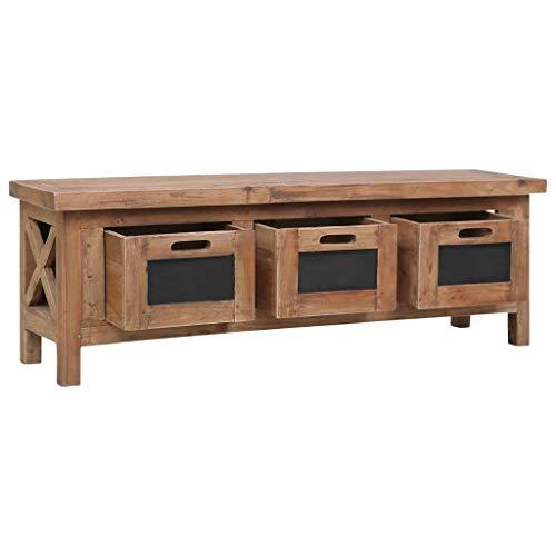 Mueble TV de madera maciza de caoba