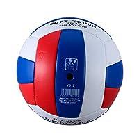 プロソフトPUバレーボールボール競技トレーニングボール男性女性公式サイズ重量ソフトタッチバレーボールボール(白&赤&青)