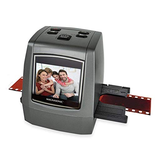 Magnasonic All-in-One High Resolution 22MP Film Scanner, Converts 35mm/126KPK/110/Super 8 Films, Slides, Negatives into Digital Photos, Vibrant 2.4' LCD Screen, Impressive 128MB Built-in Memory