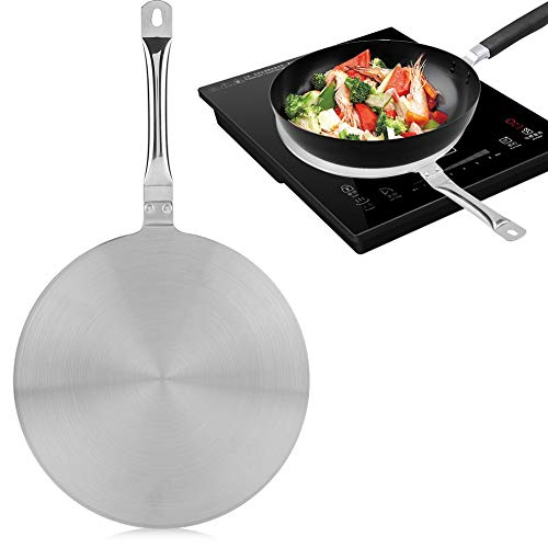 Induction Hob Heat Diffuser, Stainless Steel Heat Diffuser Converter Disk Distributing Diffuser...