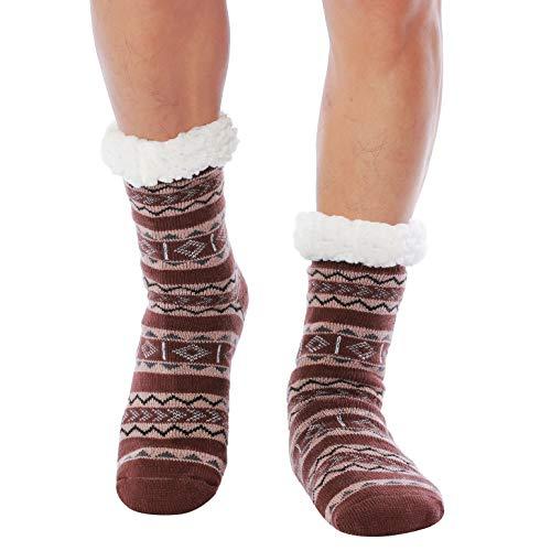 wytartist mens slipper socks fuzzy