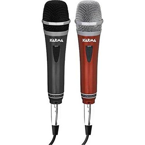 Karma Italiana DM 522 microfono (coppia) per karaoke, parlato, ecc - on-off + cavo 4mt