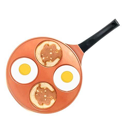 #1 Professional Copper 10 Inch Ceramic Pancake Pan Bakelite Handle CD Bottom Non-Stick PFOA Free