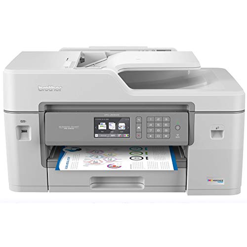 "Brother MFC-J6545DW INKvestmentTank Color Inkjet All-in-One Printer with Wireless, Duplex Printing, 11"" x 17"" Scan Glass and Upto 1-Year of Ink-in-Box, MFC-J6545dw, Amazon Dash Replenishment Ready"