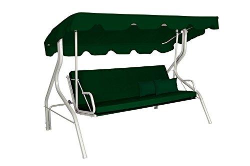 Acamp Liegeschaukel alpin, platin/grün, Maße: 207 x 140 x 170 cm