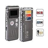 Wiiguda@Digitales 8GB Diktiergerät mit LCD-Bildschirm,Voice recorder ,tragbare wiederaufladbare Recorder,tragbare Multifunktions-Recorder(MP3,USB)