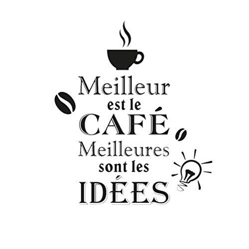 Stickers Meilleures Café - 1 Planche 20 x 70 cm