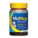 MidNite Gummies, Drug-Free Sleep Aid, Cherry Flavored, Melatonin & Herbs Dietary Supplement, 36 Count