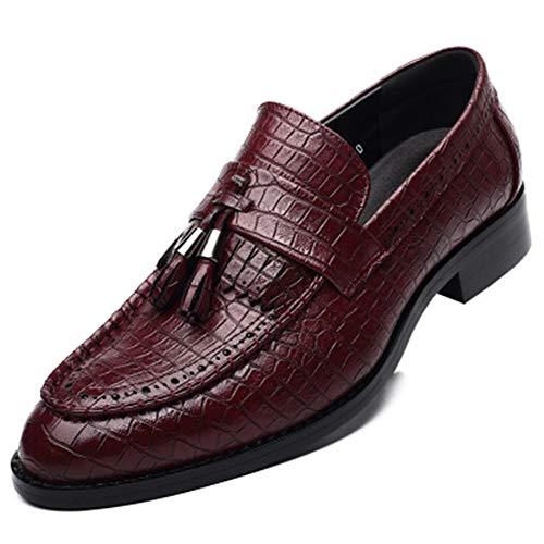 Ruick Men's Dress Shoes Classic Derby Wingtip Brogue Men Oxfords (Red/Lable 44/10 D(M) US Men)