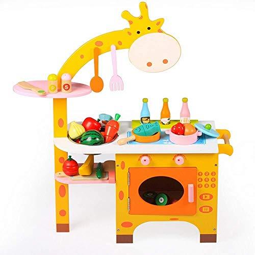 Elektronisches Schlagzeug, Mädchen Glamour Spiegel Make-up Kommode Cartoon Giraffe Cosplay Mädchen Jungen Küche Kochen Set Obst Gemüse Schneiden Waschen Spielzeug for Kinder frühe Alter Entwicklung pä