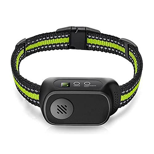 Antibell Halsband - Wiederaufladbares Vibrationshalsband für Kleine, Mittelgroße Hunde, Humanes Anti-Barking Erziehungshalsband mit Piepton-Vibration und Schock