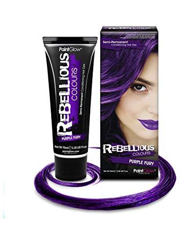 PaintGlow - Teinture Semi permanente pour Cheveux Violet foncé 70 ML