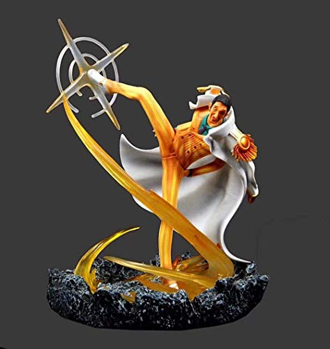 Gddg Figura de acción One Piece Piernas de ciclón Borsalino Almirante Modelo de Escena de Dibujos Animados Modelo de Dibujos Animados Estatua Decoración Modelo Anime Carácter 30cm