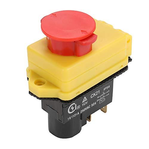 KKmoon Interruptor Maquinaria, 250-Voltaje Universal CK21D / 250V Interruptor de Seguridad y a Prueba de Polvo Interruptor Electromagnético para Rectificadora