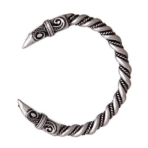 Nordic Viking Odin Raven Armreif-Handmade Antik Silber Twisted Armbänder Für Männer, Heidnischen Schmuck Amulett, Frauen Vintage Mythologie Tier Schmuck