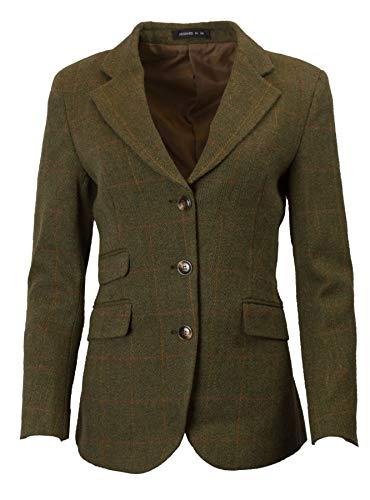 Walker and Hawkes Mayland - Country blazer voor dames - jasje - klassiek - tweed - Donker saliegroen - EU 40 (UK 12)
