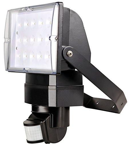 I-Lumen® 26 Watt LED Flutlicht Fluter Außenstrahler 230V Bewegungsmelder mit Stecker