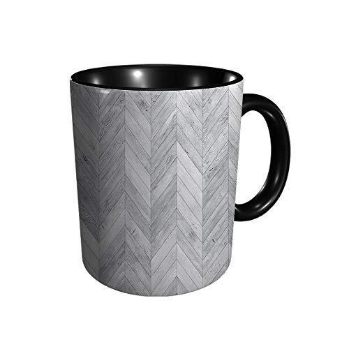 Hdadwy Weiße Chevron gebleichte Textur Keramikbecher Kaffee Tee Geschenk Geschenk Weihnachten Weihnachten 11oz
