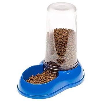 Ferplast Distributeur D'Eau Ou Nourriture pour Chats et Chiens Azimut 600 Dispenser pour Animaux Mangeoire pour Croquettes Nourriture Sèche Eau 0.6 Litres, Plastique Robuste 12,5 X 19 X H 19,5 cm Bleu