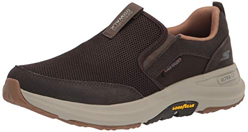 Skechers Men's Gowalk Outdoors-Performance Athletic Slip-on Walking Shoe, Brown, 11