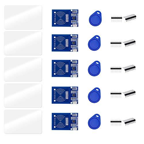ZkeeShop - Kit RFID RC522 con modulo di sensore per lettore chip e scheda compatibile per Arduino e Raspberry Pi