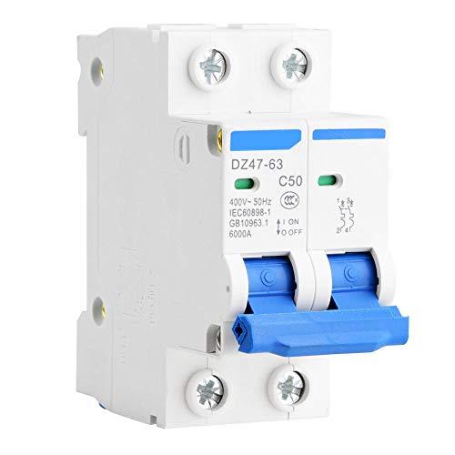 Interruttore automatico miniatura DZ47-63 2P 400V AC interruttore automatico interruttore di protezione differenziale 25A 40A 50A 63A(50A)