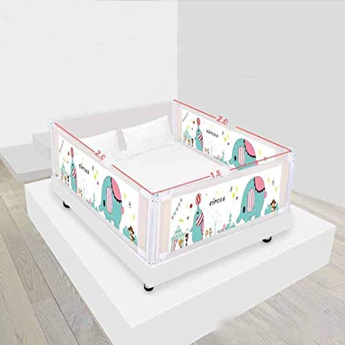 Sale!! Bed Fence Baby Drop Protection Bar Vertical Lift Crib Wai Children's Universal Baffle QYSZYG (Color : Crocodile),Crocodile (Color : Elephant)