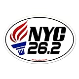 Charmed Running New York City NYC Marathon 26.2 With TORCH Car Magnet NO YEAR SPECIFIED