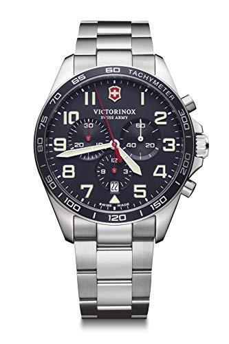 Victorinox Hombre Field Force Chronograph - Reloj de Acero Inoxidable de Cuarzo analógico de fabricación Suiza 241857