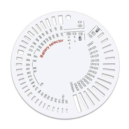 Knopfzellenschablone Selektor für alle gängigen Größen, Identifiziert alle möglichen Knopfzellen