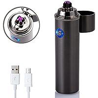 Mechero electrónico–Mecheros eléctrico de arco Forhu - Encendedores recargables USB resistentes al viento., Business black