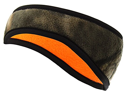 Zeek Outfitter Mossy Oak Country Camo Headband | MOC Ear Warmer Protection | Mossy Oak Hats for Men | Mossy Oak Head Cover | Safety Orange Hunting