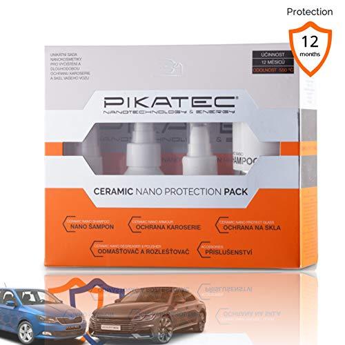 PIKATEC Nano Ceramic Auto - Sellador de cerámica para limpieza de coches,...