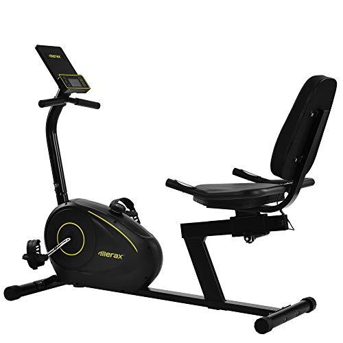 WGYDREAM Bicicleta Estática Reclinable Bici De Ejercicio Reclinado Bici De Ejercicio Recostado 8 Niveles De Resistencia Ajustables Sensores De Pulso Y Pantalla LCD Bluetooth