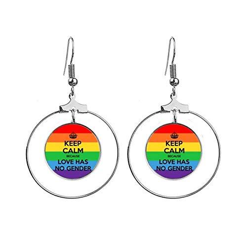 Gay Lesbische Transgender Biseksuelen LGBT Oorbellen Dangle Hoop Sieraden Drop Cirkel