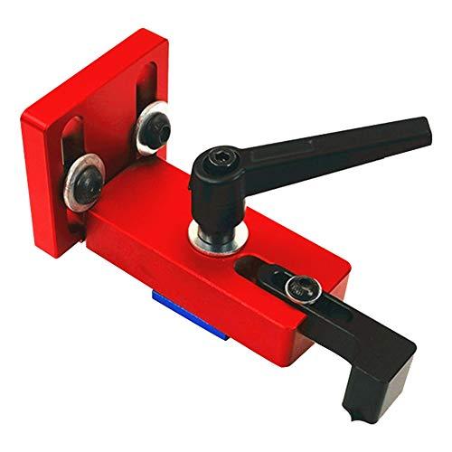 T-Slot Mitre Track Stop Locator - Supporto scorrevole per binario di lavoro del legno Goulotte Connettore di supporto Strumento di lavoro del legno