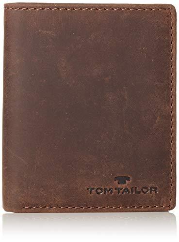 TOM TAILOR Geldbörse Hochformat Herren Ron, Braun, one size, Portemonnaie, TOM TAILOR Tasche Herren